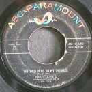 PAUL ANKA~Put Your Head on My Shoulder~ABC-Paramount 10,040  45