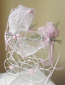 Wire baby carriage medium for Baby carriage decoration