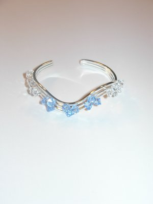 Cuff - aquamarine and clear