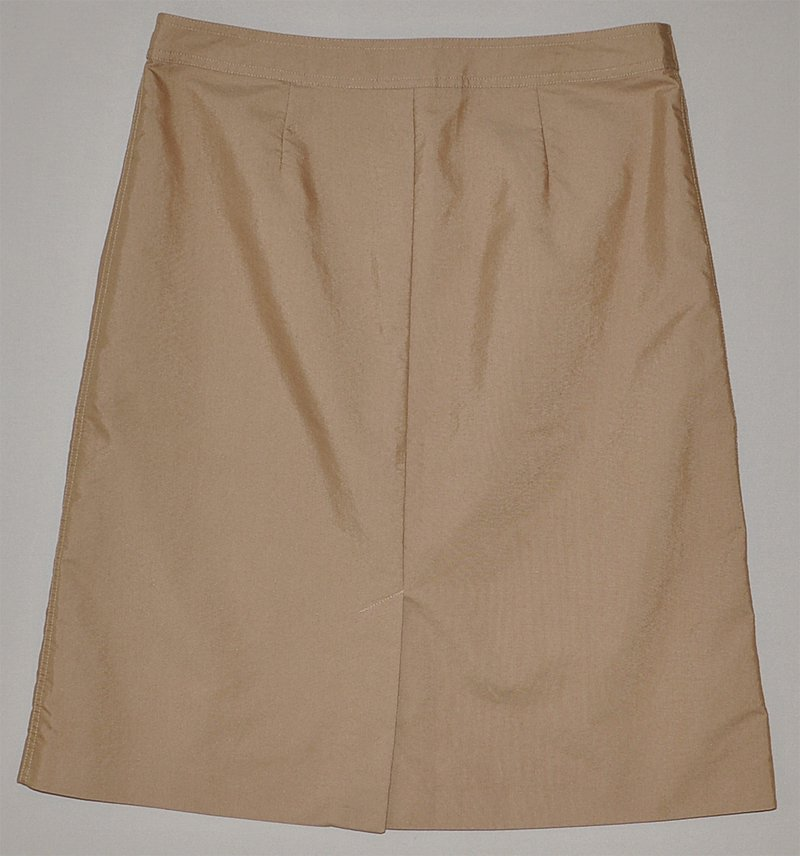 gap s beige a line knee length button up khaki skirt