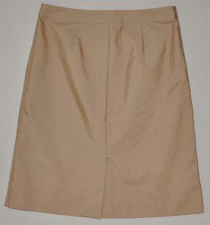 gap s beige a line knee length button up khaki skirt
