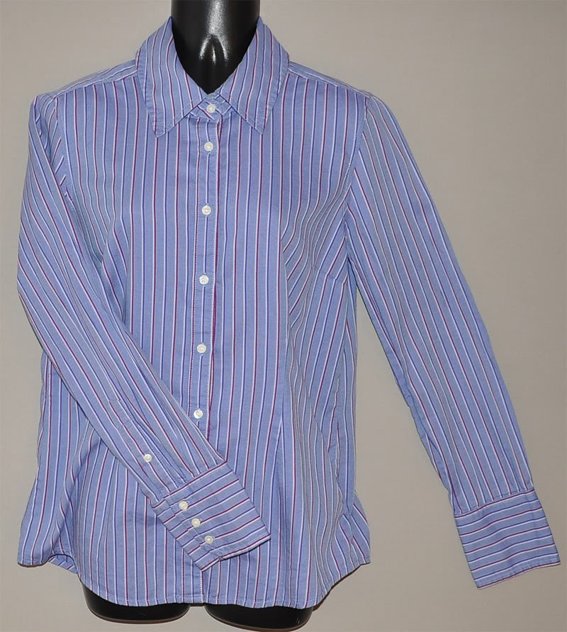 Tommy Hilfiger Women 39 S L S Striped Fitted Button Up Shirt