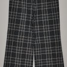 THE LIMITED Women's stretch flat front plaid dress pants 2 reg