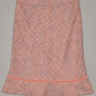 GAP Women's pink lined wool ruffled A-line knee length skirt 4