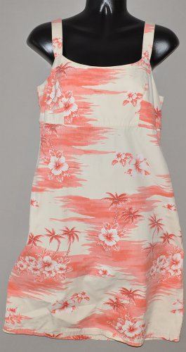 OLD NAVY Women's spaghetti strap Hawaiian print dress 4