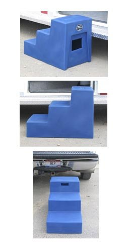 3 Step Horse Mounting Block with storage High Country Plastics ON SALE