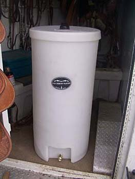 Round Barrel Water Caddy 35 Gal tank horse trailer High Country Plastics ON SALE