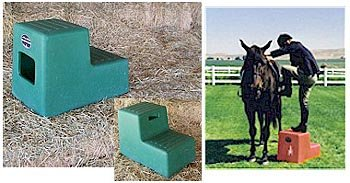 2 Step Horse Mounting block with Storage High Country Plastics