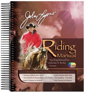John Lyons New Horse Riding Training Manual Spiral Bound with 4 DVDs