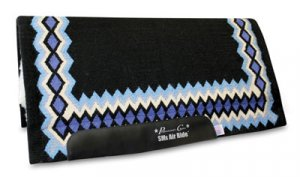 Professional's Choice HD SMx Air Ride Shilloh Saddle Roping Show Pad Black Turquoise