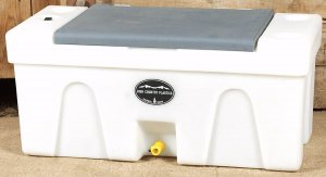 BENCH WATER CADDY Gray LID High Country Plastics