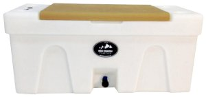 BENCH WATER CADDY Tan LID High Country Plastics