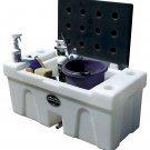 BENCH WATER CADDY Blue LID High Country Plastics