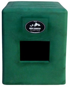 2 Step Horse Mounting block Forest Green High Country Plastics