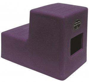 2 Step Horse Mounting block Purple High Country Plastics