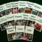 PHOTO FLASH CARDS 26 PERSONALIZED w/YOUR Photos & Text + MORE 4x6&quot; - Heavy Lamination - Double Sided