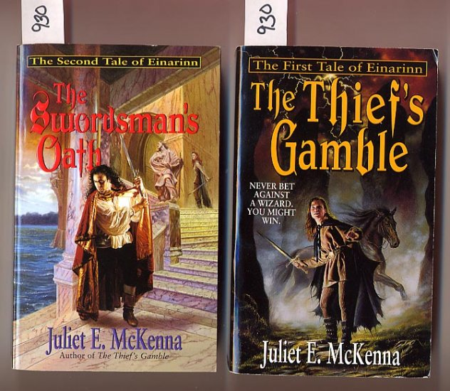 Lot of 2 Einarinn - Thief's Gamble, Swordsman's Oath by Juliet E. McKenna