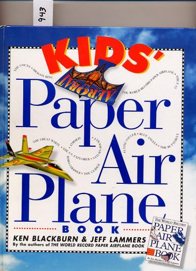 Kids' Paper Airplane Book by Blackburn/Lammers HC