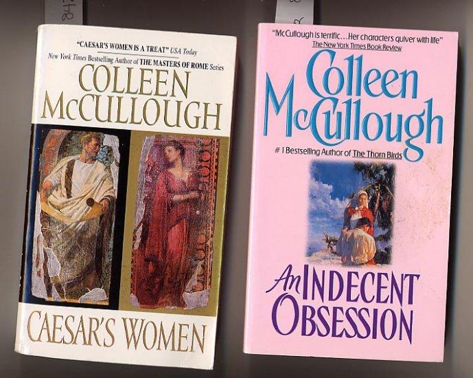 Lot of 2 Colleen McCullough - Indecent, Caesar's Women PB