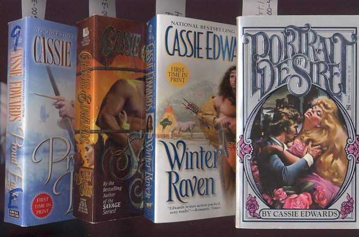 Lot of 4 Cassie Edwards - Portrait, Savage Fires, Winter, Eagle PB