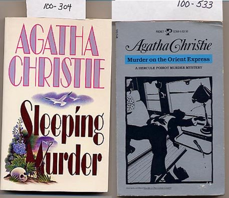Lot of 2 Agatha Christie - Murder on the Orient Express, Sleeping Murder PB