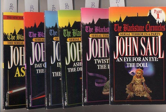 Lot of 6 The Blackstone Chronicles 1-6 John Saul PB