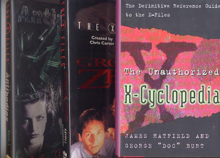 Lot of 3 X-Files - Ground Zero, Antibodies, X-Cyclopedia HC