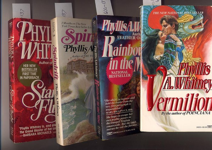 Lot of 4 Phyllis A.Whitney - Vermillion, Star, Mist, Spindrift PB