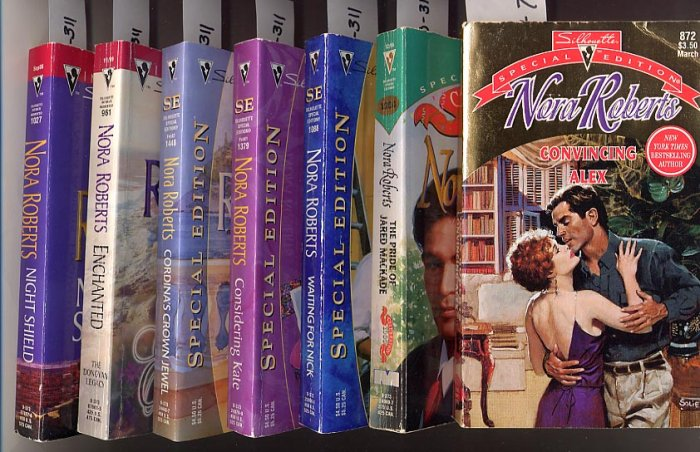 Lot of 7 Nora Roberts - Silhouette - Alex, Jared, Nick, Kate, and more PB