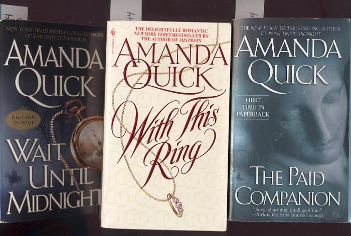 Lot of 3 Amanda Quick - Ring, Companion, Midnight PB