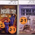 Lot of 2 by H.G. Wells - War of the Worlds, Invisible Man PB