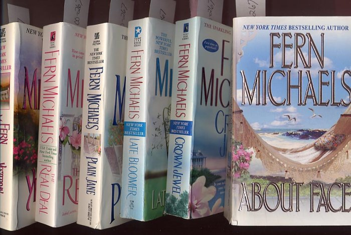 Lot of 6 Fern Michaels About Face, Yesterday, Real Deal, and more PB