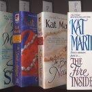 Lot of 5 Kat Martin - Night, Silk, Fire Inside, Bride's, Devil