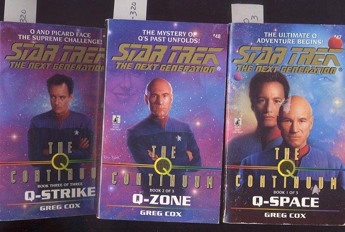 Lot of 3 Star Trek the Next Generation Continuum #47, #48, #49