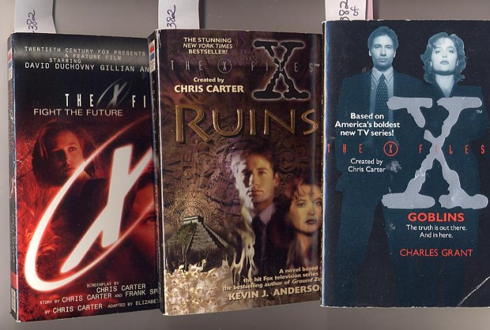 Lot of 3 X-Files - Goblins, Ruins, Fight the Future PB