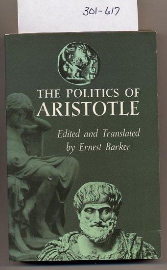 Politics of Aristotle edited by Ernest Barker SC