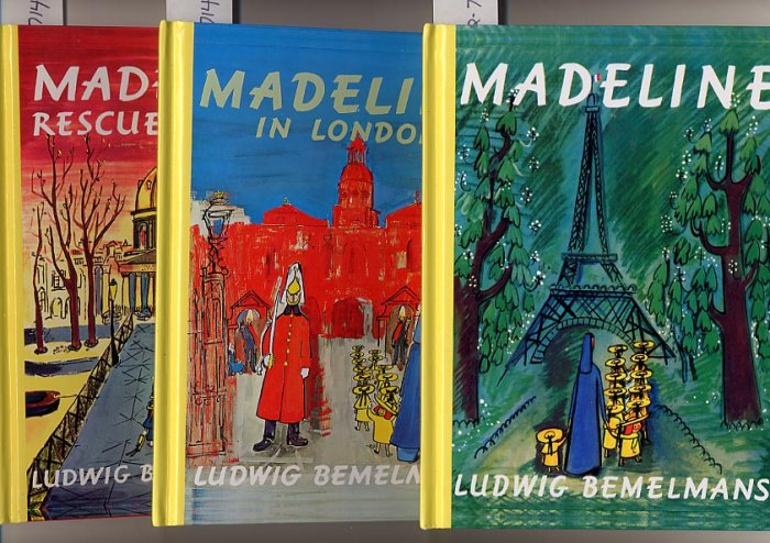Lot of 3 Madeline,Madeline in London,Madeline's Rescue HC