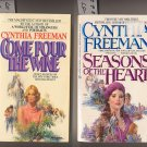 Lot of 2 Cynthia Freeman-Come Pour the Wine, Seasons of the Heart PB