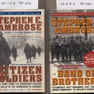 Lot of 2 Ambrose Citizen Soldiers, Band of Brothers SC