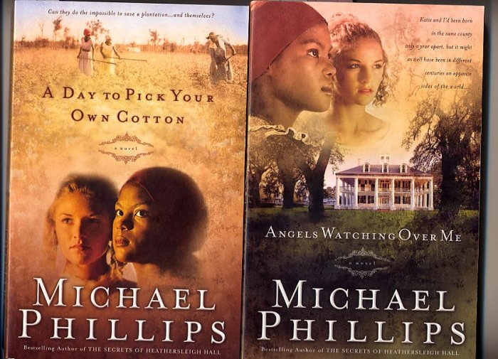 Lot of 2 Michael Phillips Angels Watching, A Day to Pick