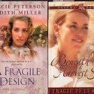 Lot of 2 Tracie Peterson - Fragile Design, Beneath a Harvest SC