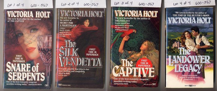 Lot of 4 Victoria Holt - Snare, Silk, Captive, Landower PB