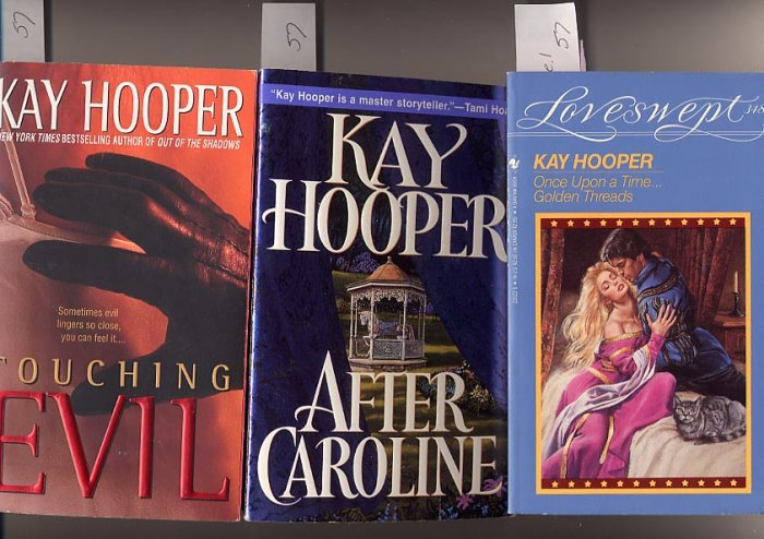 Lot of 3 Kay Hooper - Golden Threads, After Caroline, Touching Evil