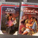 Lot of 2 Andrea Davidson Golden Cage, Treasures of the Heart Harlequin American PB