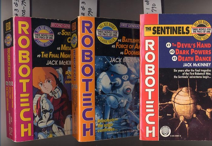 Lot of 3 Robotech The Sentinels, First Generation, Second Generation by Jack McKinney PB