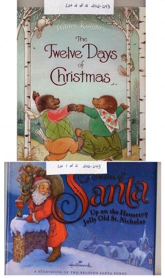 Lot of 2 Christmas Stories of Santa, 12 Days of Christmas HC