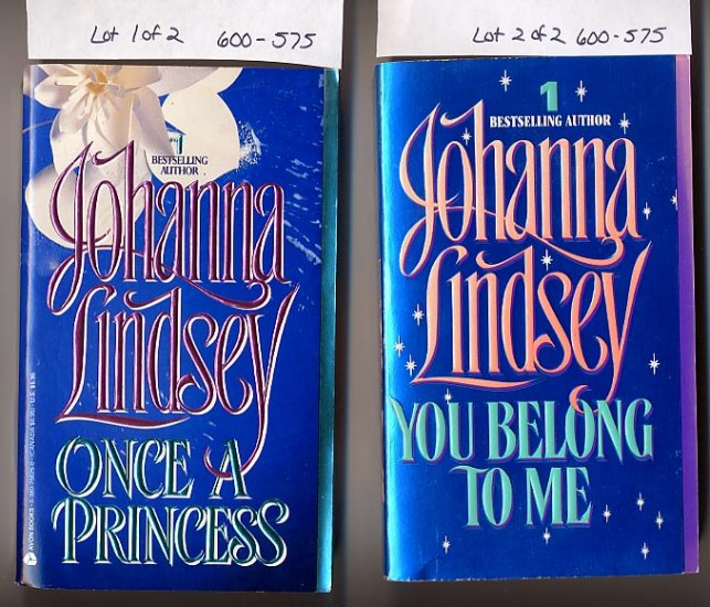 Lot of 2 Johanna Lindsey Once a Princess, You Belong to Me PB