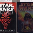 Lot of 2 Star Wars Phantom Menace, Revenge of the Sith HC