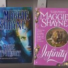 Lot of 2 Maggie Shayne Blue Twilight, Infinity PB