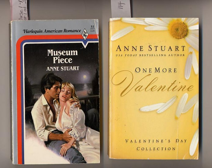 Lot of 2 Anne Stuart Museum Piece, One More Valentine PB
